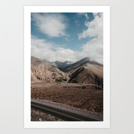 Peaks & Valleys of Argentina Art Print
