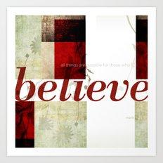 Mark 9:23 Art Print
