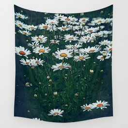 White Field Of Daisies Wall Tapestry