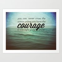 courage Art Prints featuring Courage by Chris Klemens