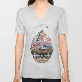 Base Camp - Himalayan Mountain Tent Village Unisex V-Neck