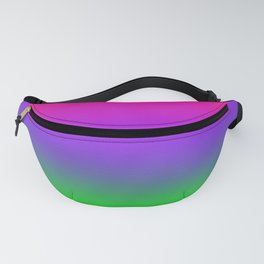 Proton Purple Plastic Pink Ultra Violet UFO Green Ombre Gradient Neon Colorful Pattern Shiny Texture Fanny Pack