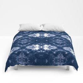 Shibori Tie Dye 1 Indigo Blue Comforters