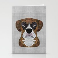 boxer Stationery Cards featuring Boxer by ArtLovePassion