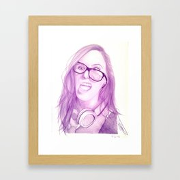 Pink Girl Framed Art Print