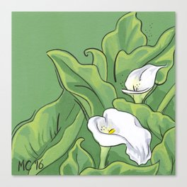 Calla Lily Valley Canvas Print