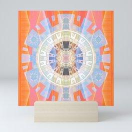 Transparent Odyssey Shamanic Journey Aztec Mandala Mini Art Print