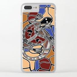 Aboriginal Art - Goanna (lizard) Dreaming Clear iPhone Case