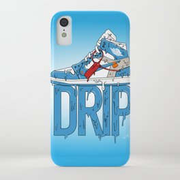 "OFF WHITE Jordan 1 UNC ""DRIP"" iPhone Case"