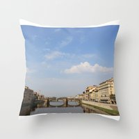italy Throw Pillows featuring Italy by karleegerrand