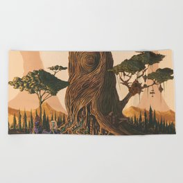 The Ancient Heart Tree Beach Towel