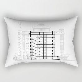 Detailed architectural multistory building floor plan, apartment layout, blueprint. Rectangular Pillow