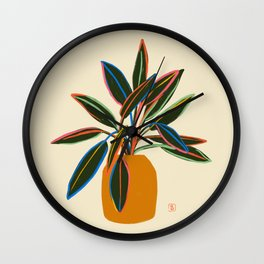 PLANT WITH COLOURFUL LEAVES  Wall Clock