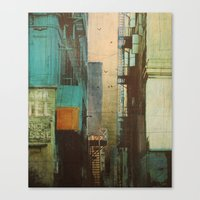 retro Canvas Prints featuring ESCAPE ROUTE by Liz Brizzi