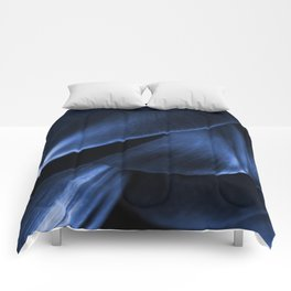 Succulent Leaf In Blue Color #decor #society6 #homedecor Comforters