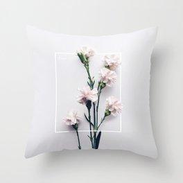 Claveles Free Throw Pillow