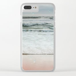 Beach Bubbles Clear iPhone Case