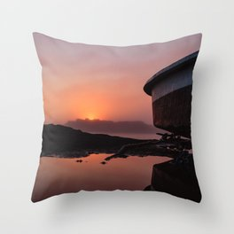 Boating on Mars Throw Pillow