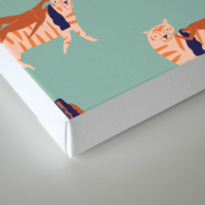 Tigers and girls Canvas Print