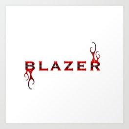 Blazer Logo Graphic Art Print
