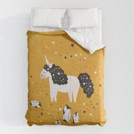 Stellar Unicorn with Stars and Constellations Comforters