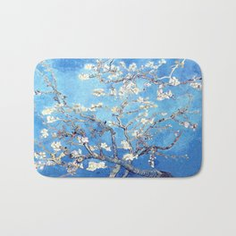 Vincent Van Gogh Almond Blossoms. Sky Blue Bath Mat