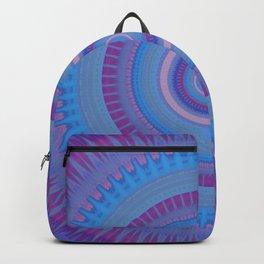 Electric Purple Blue Mandala Backpack