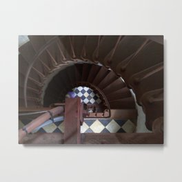 Spiral Down at Cape Hatteras Lighthouse Metal Print