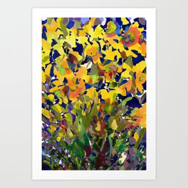 Daffodil Shadows Art Print