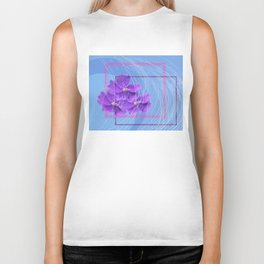 violet abstract Biker Tank