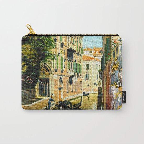 Venezia - Venice Italy Vintage Travel Carry-All Pouch