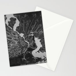 retro vintage Peacock poster Stationery Cards