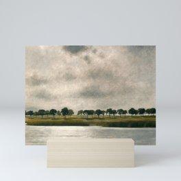 Afternoon Storm on the Coast and Salt Pond landscape by Vilhelm Hammershoi Mini Art Print
