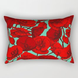Poppies I Rectangular Pillow