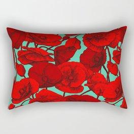 Poppies I Rectangular Pillow