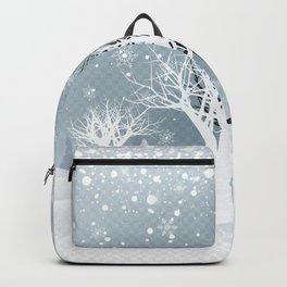 Winter Holiday Fairy Tale Fantasy Snowy Forest Collection Backpack