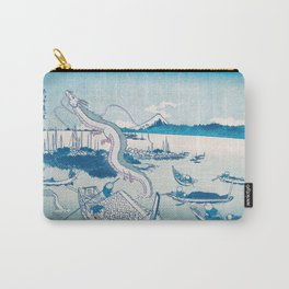 Haku the dragon japanese vintage woodblock mashup Carry-All Pouch