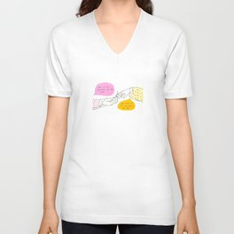 Art is an Invention  of the Soul Unisex V-Neck