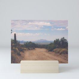 Down Desert Roads Mini Art Print