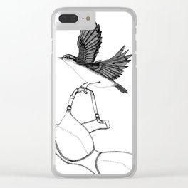 nuthatch absconds with your brassiere Clear iPhone Case