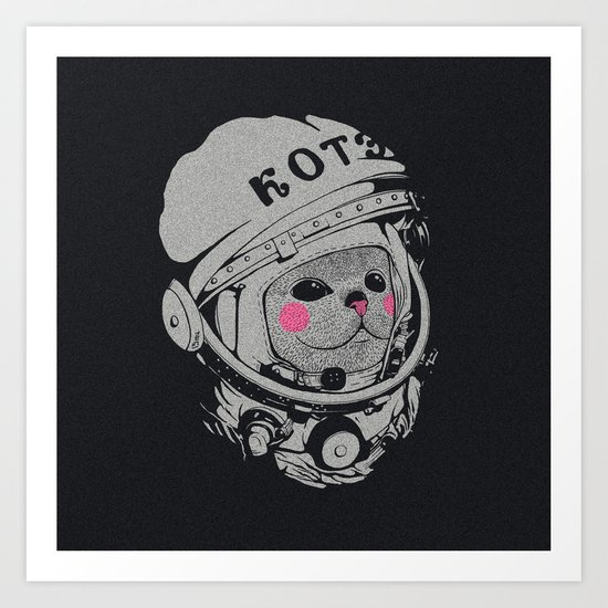 Spaceman cat Art Print