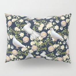 White Doves and Roses Pillow Sham
