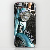 moto iPhone & iPod Skins featuring Vintage moto by Johanna Arias