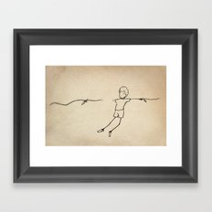 Between the strings Framed Art Print