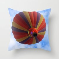 balloon Throw Pillows featuring Balloon  by Christine baessler
