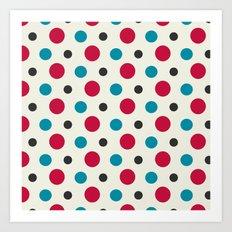 Like a Leaf [spots] Art Print