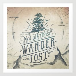 Im a wanderer Art Print