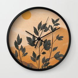 Plant Under a Dune Wall Clock