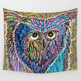 Owl Power Wall Tapestry