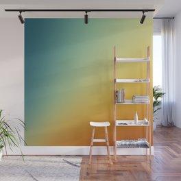 Gradient Colours: Orange Blue Wall Mural